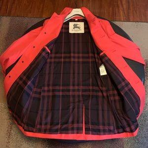 Burberry Cotton Gabardine Car Coat (Red)